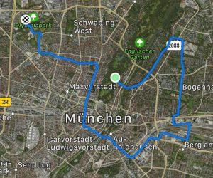 Strecke für den Halbmarathon